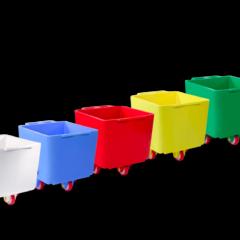 Mobile beholdere fargekodede