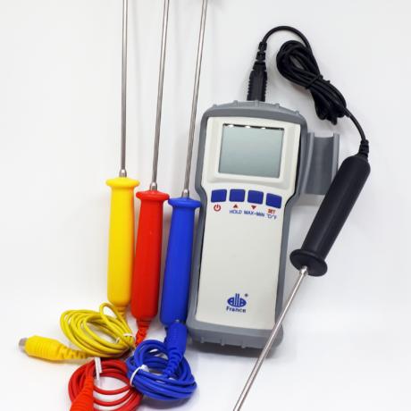 Termometer med fargekodede termistorprober
