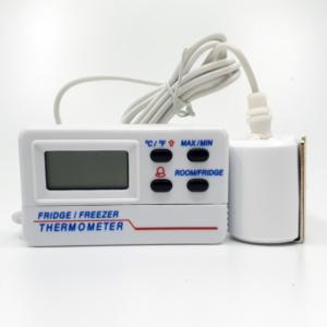 Termometer med temperaturbrems