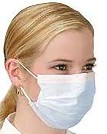 Ansiktsmaske bommul - illustrasjon