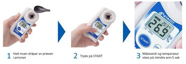 Målemetode Pal refraktometer